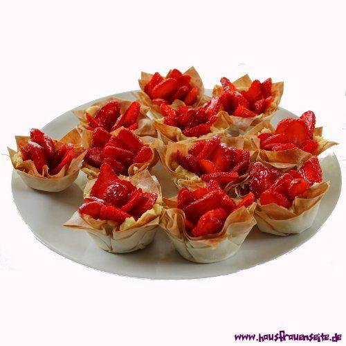 Erdbeer-Filous unsere Erdbeer-Filous werden schnell und einfach mit Filo-Teig zubereitet vegetarisch