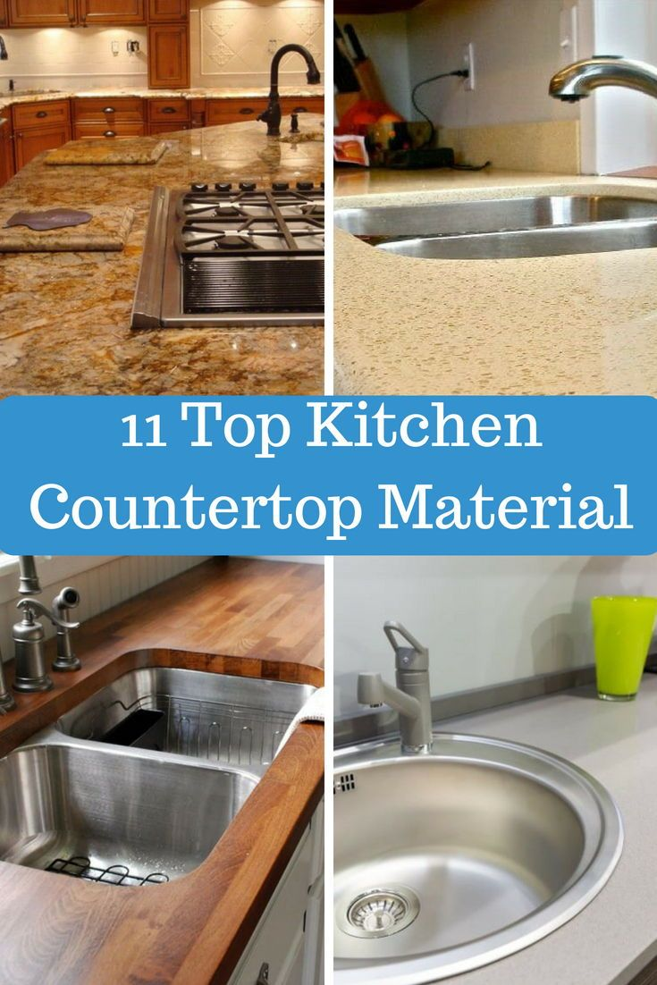 13 Different Types Of Kitchen Countertops Buying Guide Cost Estimates Types Of Kitchen Countertops Countertops Kitchen Design Decor
