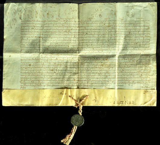 BENEDICT XIV, POPE. 1675-1758. Papal Bull. Document on vellum.