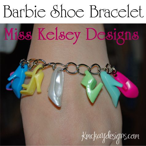barbie shoe bracelet!  for when you lose one of the shoes.... like I always did :-)