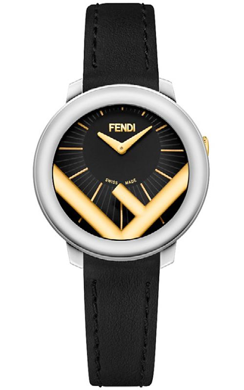 F710121011 Fendi Run Away 28mm Women s Two Tone Watch - Silvertone Golden  Case f3ce0c765fd9