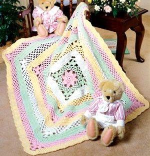 Flowers & Lace Crochet Baby Afghan Pattern ePattern