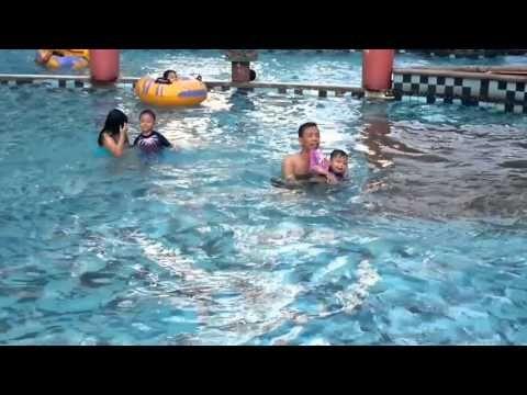 Family swimming at Marcopolo WaterPark Tangerang