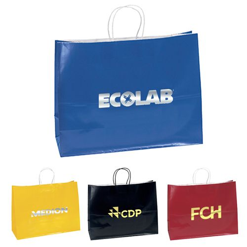Employ Custom Gloss Paper Shoppers for regular store promotions and bulk gifts.   #EcoFriendlyBags  #BestSellers