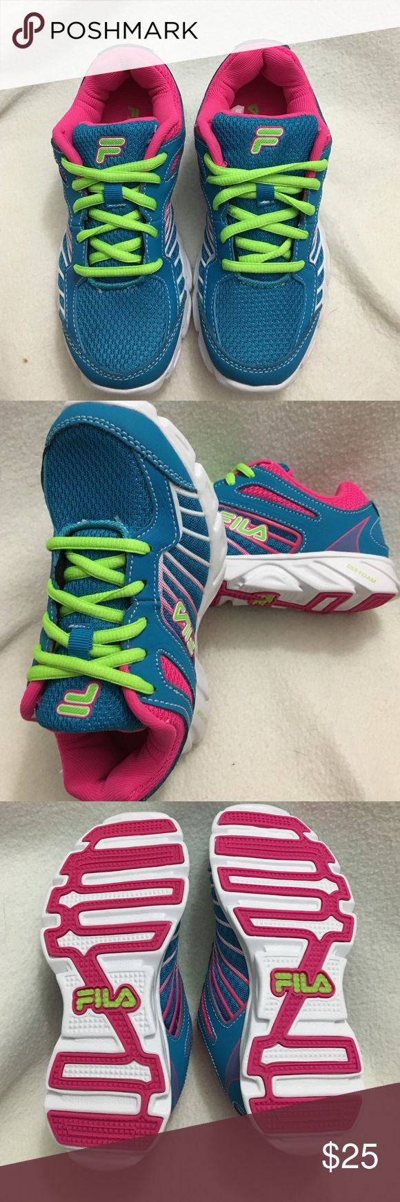 Girls shoes These are very fashionable shoes great for school good solid shoes knit on outside Fila Running Shoes Sneakers