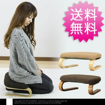 Rakuten: Legless chair | 2.5 kg of 45 29 sitting straight chair ST -053W brown natural beige width depth bearing surface high 17 light weight hard Yasumasa legless chair floor chair bentwood wares sitting straight chair compact storing 10P06may13 pole thickness cushion low back pain Buddhist memorial service sitting straight chair low chair gift present- Shopping Japanese products from Japan