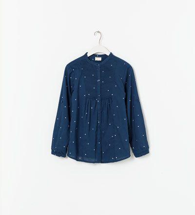 Shirt with bib detailing - Zara