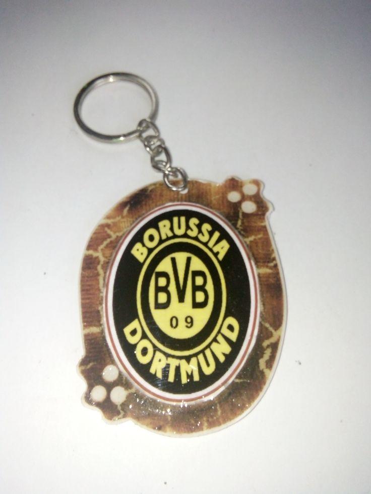 Gantungan Kunci Paralon Bakar Logo Klub Sepakbola BORUSSIA DORTMUD