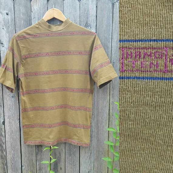 Vintage HANG TEN Tee  //  Vtg 70s Distressed Trashed by byHEXEREI