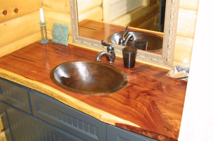 Cedar Bathroom Vanities Picture Finished Bathroom
