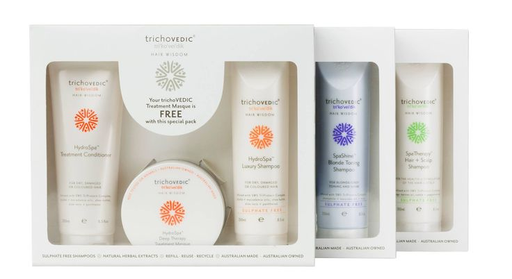 Available in a trio pack - 250ml Shampoo, 250ml Treatment Conditioner & 150ml Treatment Masque. #hair #hairproduct #hairproducts #hairstyling #haircare #hairstyle #hairfashion #hairstylist #hairstyles #hairfashion #hairdressing #trichovedic #giftpack