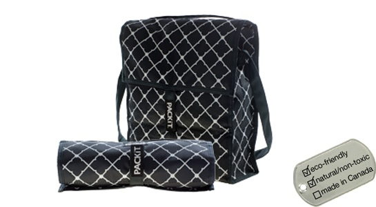 Packit Social Lunch Coolers - picnic cooler tote bags black