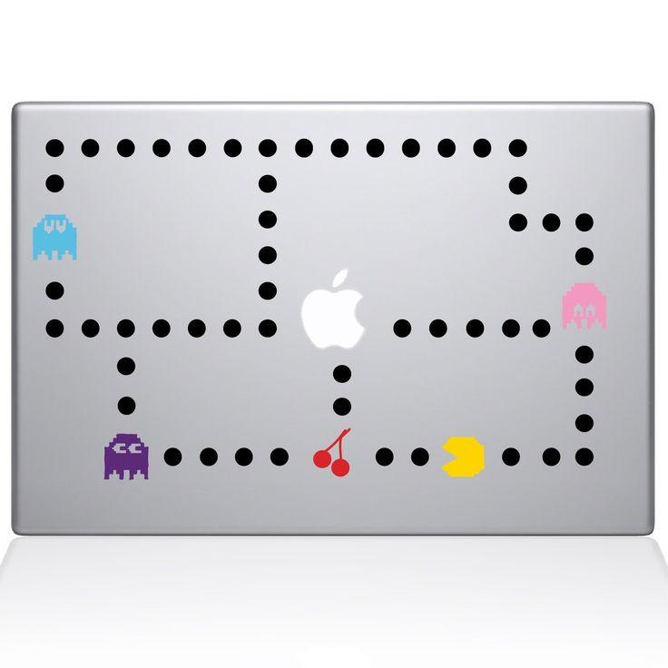 Pacman Color Macbook Decal | Macbook Vinyl Decals | The Decal Guru