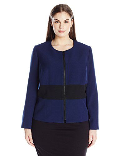 """Product review for Kasper Women's Plus Size Colorblock Zip up JKT.  - You will be dressing for success in this color block zip front jacket! this is the perfect piece for when you want to look professional and be comfortable all day long       Famous Words of Inspiration...""""From the moment I picked your book up until I laid it down I was..."""