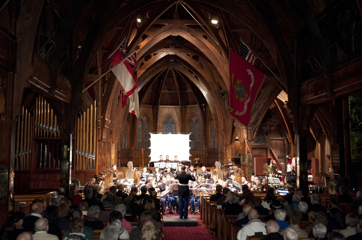70 years ago, on June 14, 1942, the U.S. Marines landed in Wellington to defend New Zealand and stage into the South Pacific during World War II.  Here, the U.S. Marine Band plays an anniversary concert in Old St. Paul's, where Marines worshipped 70 years ago.