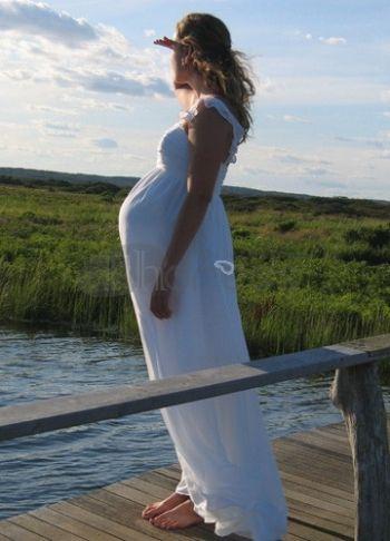 cinghie bordo chiffon breve abiti da sposa premaman colonna