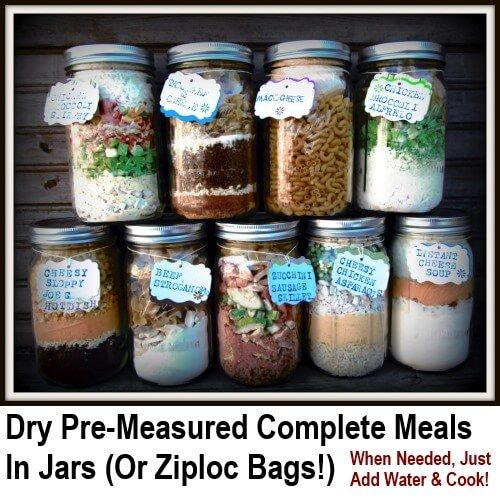 What a great idea! Measure out all the dryingredientsfor the meals and then store it in jars. When you need one, just pour it out into a pan, add water and cook. How simple and excellent is that… It offers a nice alternative to simply…