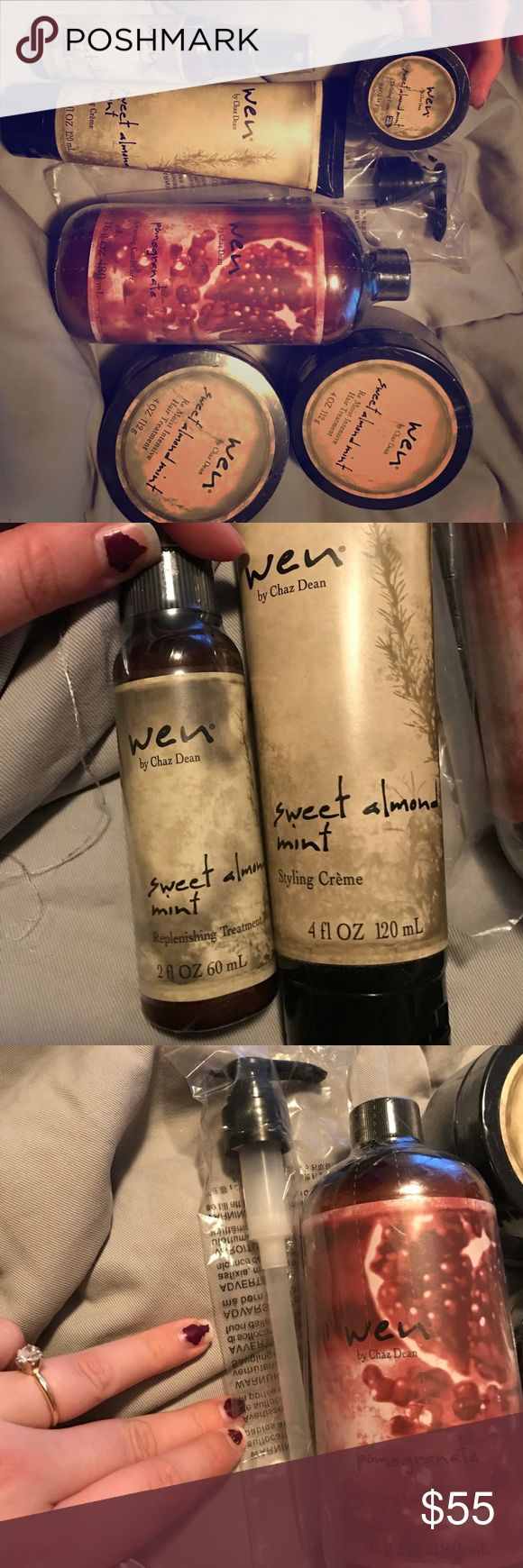 6 wen hair products with pump Wen hair brand products! Was given as gift and I'm very brand loyal. Wen Makeup