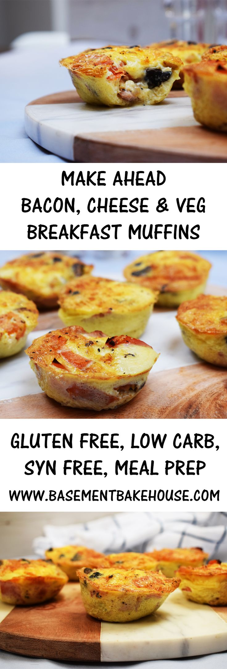Make Ahead Bacon Cheese & Veg Breakfast Muffins - Gluten Free, Low Carb, Syn Free on Slimming World