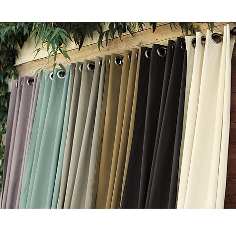 Ballard Indoor/Outdoor Curtain   Sunbrella Fabric Resists Fading Mildew And  Mold