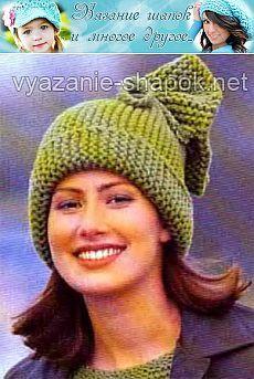 Nagyon egyszerű kalap harisnyakötő öltés |  Kötés kalapok: Női kalapok és horgolt, férfi és gyermek sapka, kötött táskák