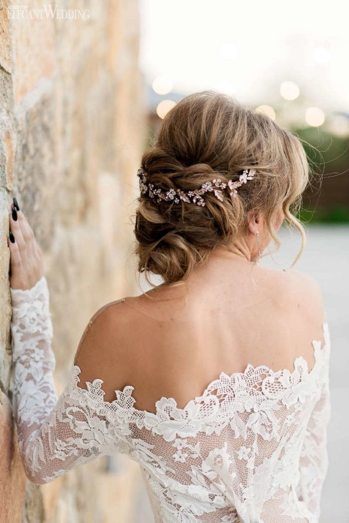 26 Beautiful Wedding Updo Hairstyles Elegant Wedding Diamond