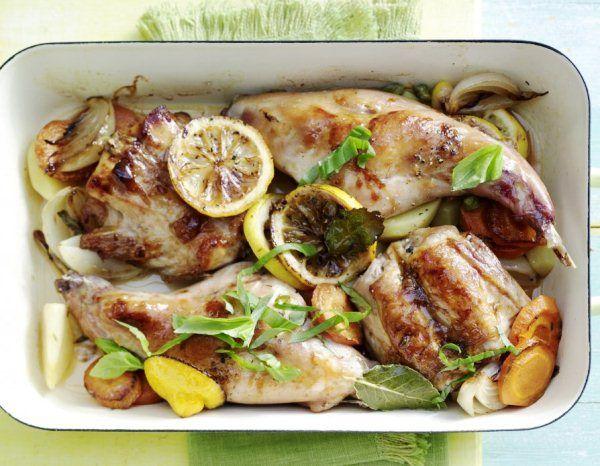 Как приготовить кролика в духовке Подробно с фото о том, как приготовить кролика в духовке с картошкой, луком и морковью, а также с пикантными средиземноморскими специями
