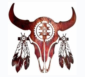 Longhorn Bull Skull Wall Hanging