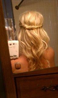 Hairband: Hair Ideas, Wedding Hair, Half Up, New Hair, Long Hair, Prom Hair, Girls Hairstyles, Hair Style, Pretty Hair