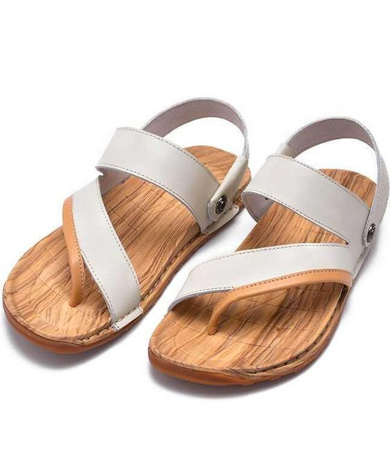 Sandals for men leather summer cowhide sandals Korean style slippers for fashionable men authentic breathable beach shoes for men_ Daily Store
