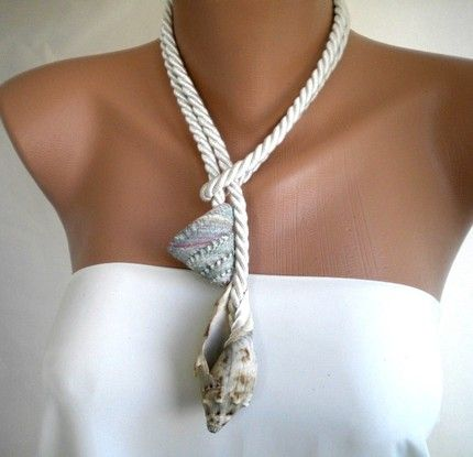 Ocean Waves handmade Sea Shell Necklace by kirevi8 on Etsy