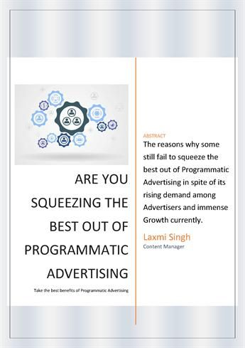 Marketers happily adapt the new technologies and same happened with the advent of #ProgrammaticMarketing. All loved it and kept increasing their ad spend every time. The stats revealed in the market about #programmatic also boasted of its growth and acceptance from time to time.