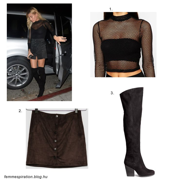 #haileybaldwin #model #outfit #style #fashion #clubbing #party #hm #bershka #asos