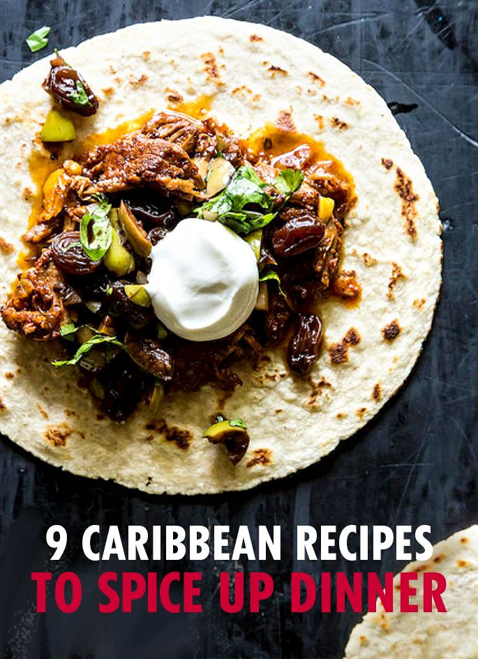 These 9 Caribbean recipes will add some serious fun to dinner tonight. Plus, eating at home instead of the beach means 100% less chance of getting sand in your food.