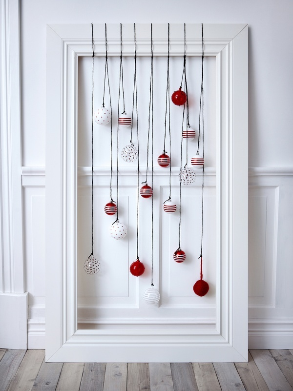 If you hung the bulbs strictly from the back i bet this would come out even better! What a neat idea
