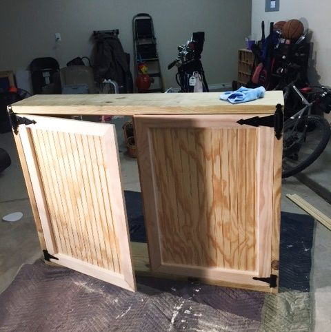 DIY'er James from Texas added his personal touch to his Outdoor TV cabinet.