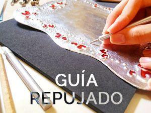Aprende a usar la pátina sobre una lámina de aluminio, en unos pocos pasos obtendrás un resultado envejecido al repujado