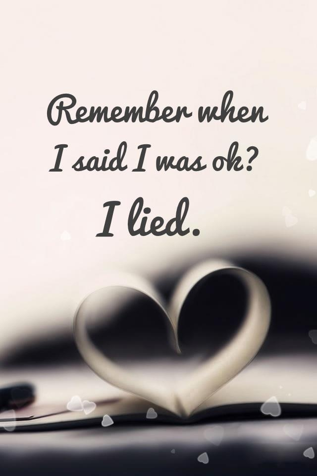 many, many times during my divorce i used this lie....