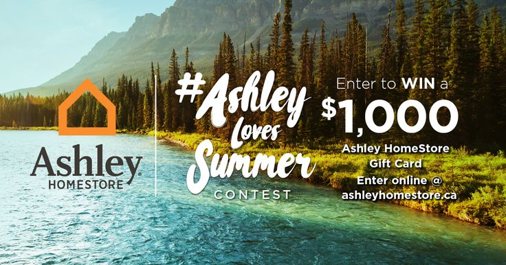 Ashley HomeStore Canada (@AHSCanada) is giving away two, $1,000 Gift Cards in their #AshleyLovesSummer contest!