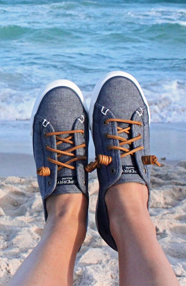 Easy on. Easy off. The Seacoast Sneaker with chambray material is your new go-to on warm afternoons.