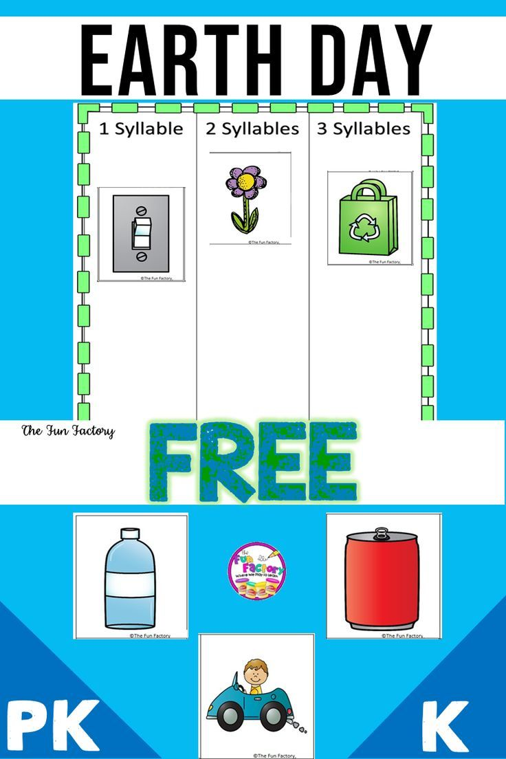 Earth Day Activities Free Earth Day Syllable Sort Earth Day Activities Syllables Activities Teacher Classroom Elementary [ 1104 x 736 Pixel ]