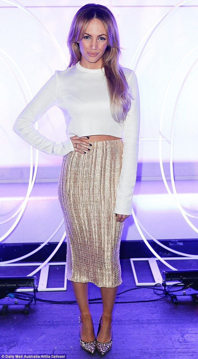 Taking a walk on the wild side: Samantha Jade shows her instinct for style when she drew g...