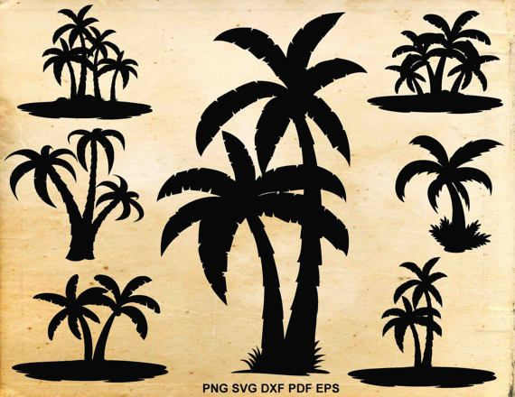 Palm tree svg Palm tree clip art Tropical Svg files for