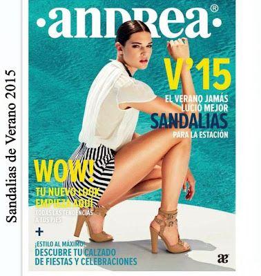 Catalogo de Sandalias Andrea Verano 2015. Contiene imagenes con zapatos de moda casual para mujer.