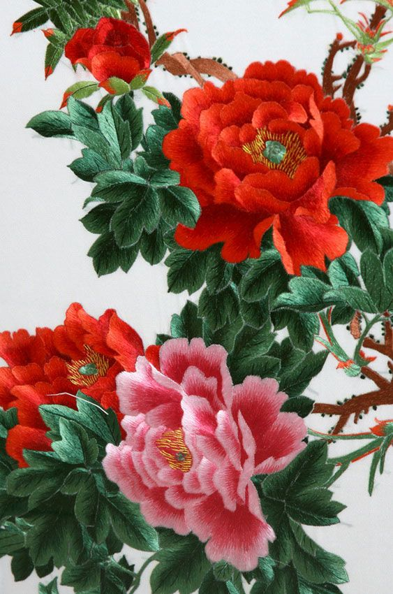 New: Chinese Silk Embroidery The hours and hours this would take!