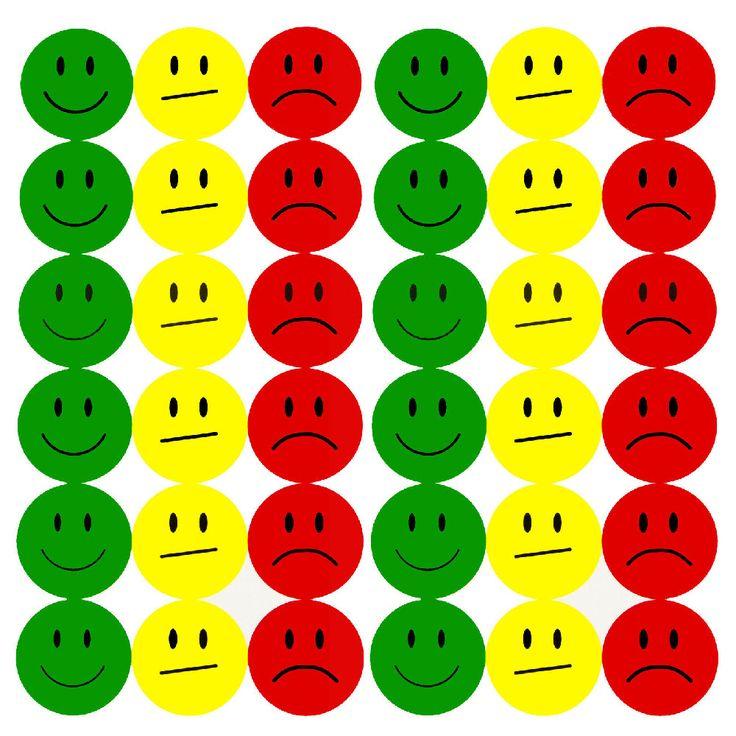 180 Smiley Sticker Set Aufkleber Emoji lächeln Face ø 2cm - grün gelb rot in Spielspass / Basteln  • Sticker • Smiley Sticker