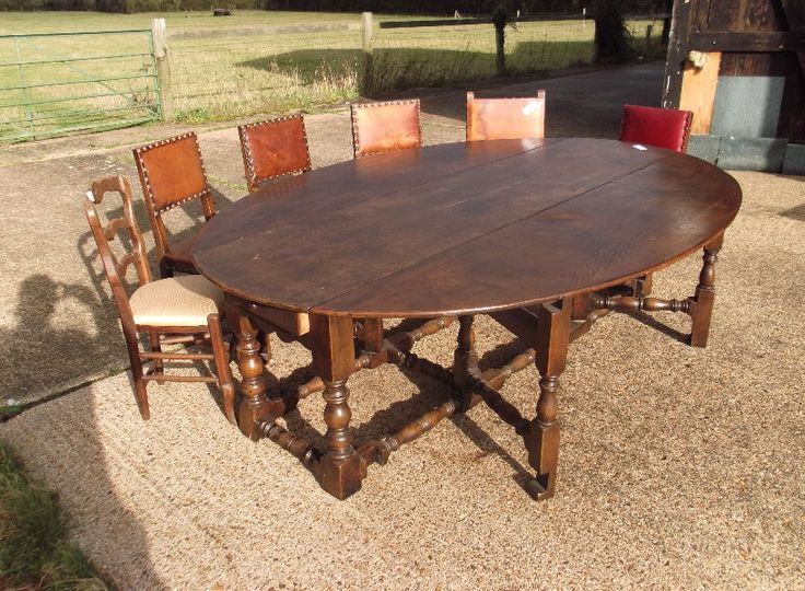 8ft antique oval dining table 17th century jacobean revival oval formed oak ding table to - Groer Runder Esstisch Fr 12 Personen