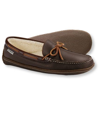 em christmas gift ideas Men's Handsewn Slippers, Fleece-Lined: Slippers | Free Shipping at L.L.Bean