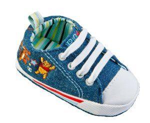Model Sepatu Bayi Laki Laki - Winnie the Pooh Bayi Sol lembut Denim 3/4 Lace-up | Pusat Sepatu Bayi Terbesar dan Terlengkap Se indonesia