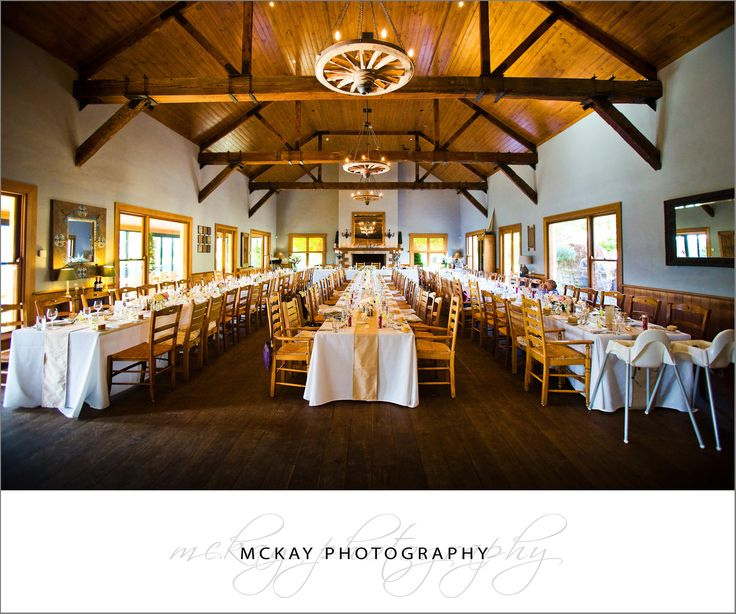 Centennial Vineyards main wedding reception room. A beautiful big hall with wood beams and an awesome fire place.  http://www.mckayphotography.com.au/ #centennialvineyards #bowral #wedding